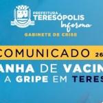 Em apenas 2 dias, Teresópolis imuniza metade do público alvo nesta primeira fase da Campanha Contra a Gripe