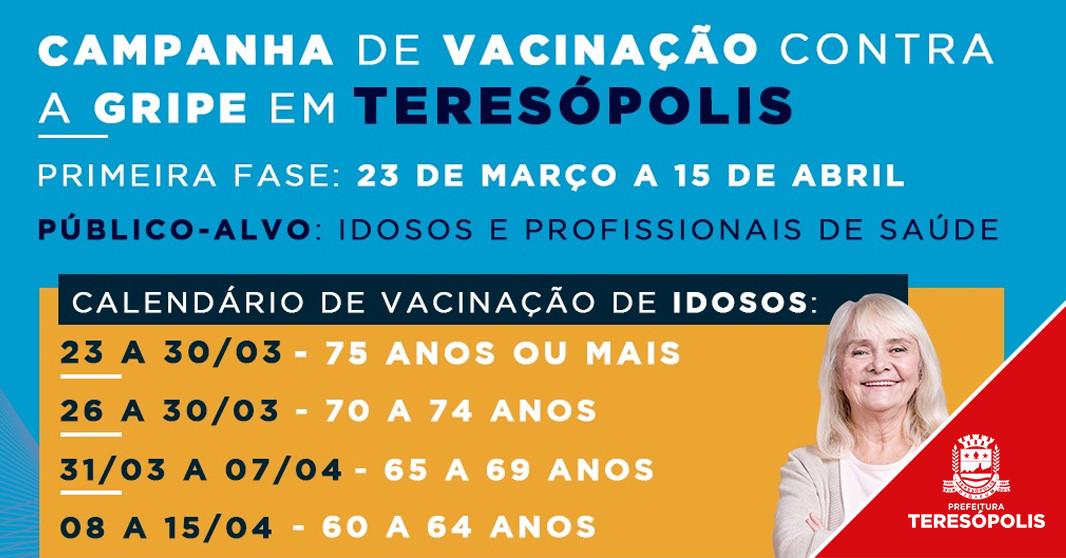 Campanha de vacinação contra a gripe começa na segunda, dia 23, pelos idosos e profissionais de saúde