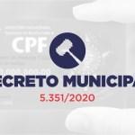 Decreto revoga a exigência de CPF para acesso aos estabelecimentos em Teresópolis