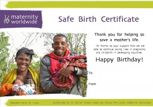 Maternity Worldwide Safe Birth Certificate