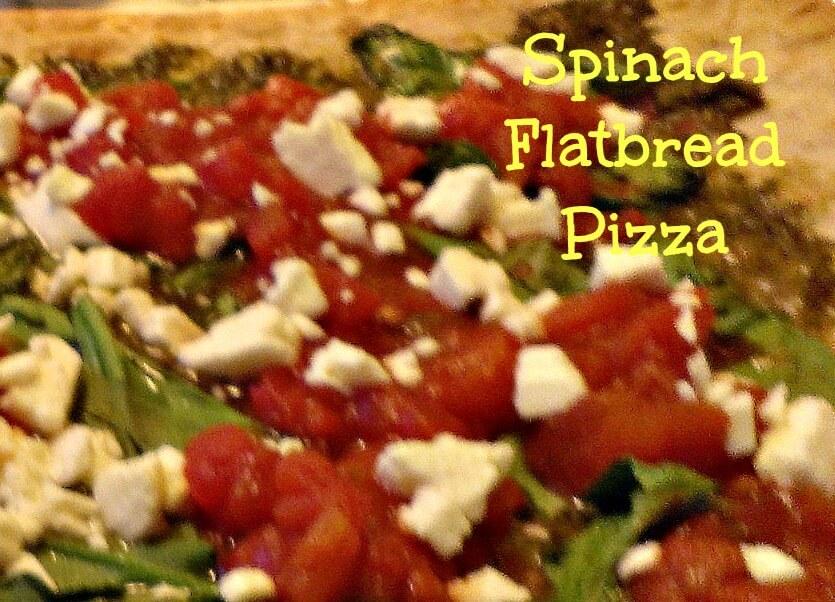 spinach pesto flatbread pizza