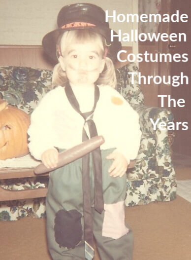 the author, at age 2, wearing a homemade hobo costume and holding a plastic cigar