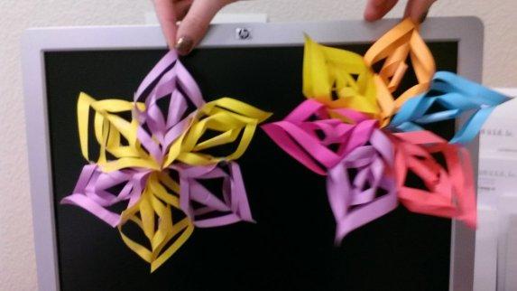 mini 3d paper snowflakes