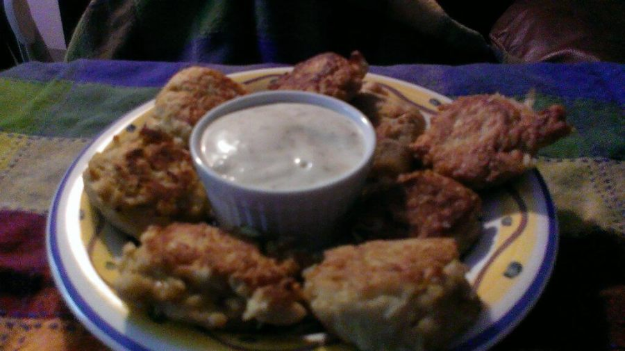 falafel with ranch dressing