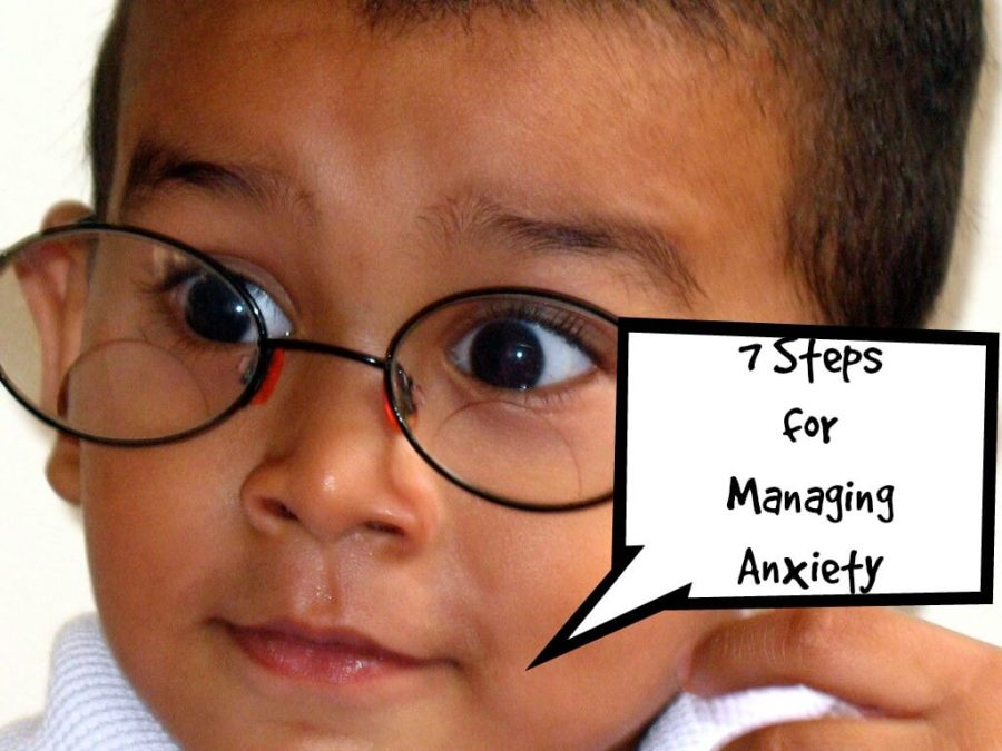 "photo of an anxious child with the title ""7 Steps for Managing Anxiety"""
