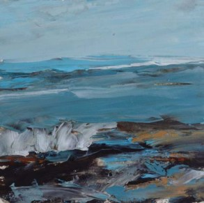 TM8646 Watching the Waves Come In #163 6x6 oil