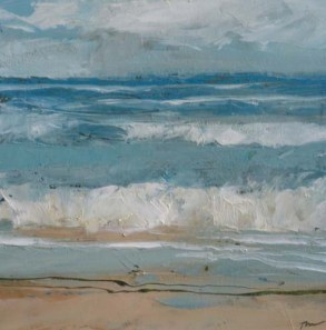 TM8650 Watching the Waves Come In #167 6x6 oil