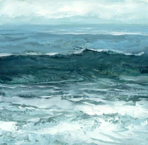 TM8595 Watching the Waves Come In #141 6x6 oil