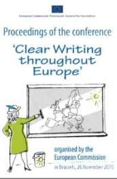 Clear writing throughout Europe