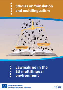 Studies on translation and multilingualism Lawmaking in the
