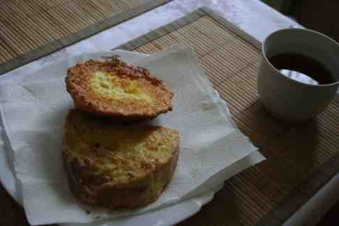French toast prepared at home