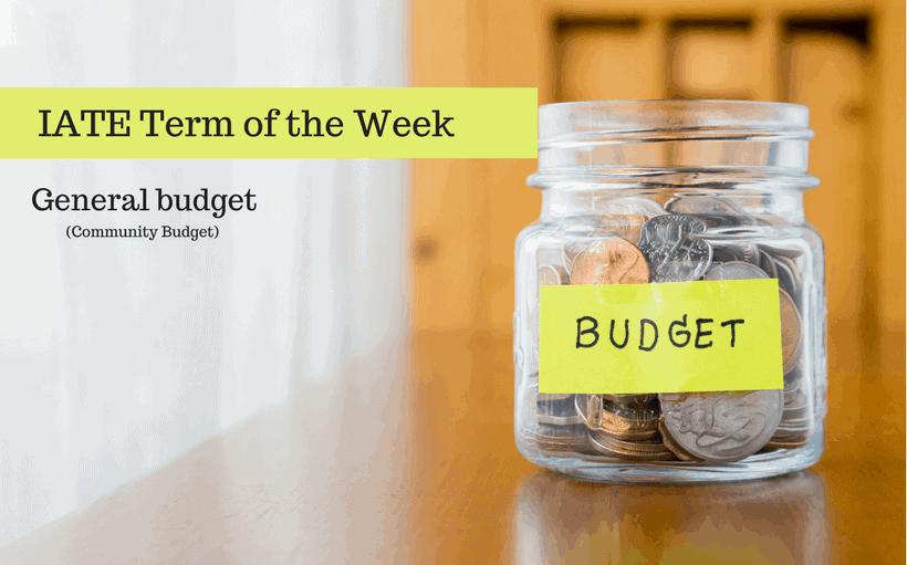 IATE Term of the Week- budget