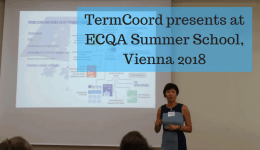 TermCoord Presents at ECQA Summer School, Vienna