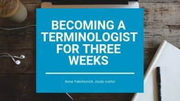 Becoming a terminologist for three weeks