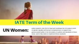 IATE Term of the Week: UN Women