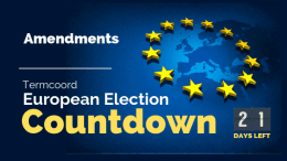 Termcoord European Election Countdown: Amendments
