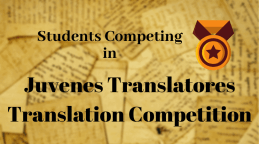 Students Competing in Juvenes Translatores Translation Competion