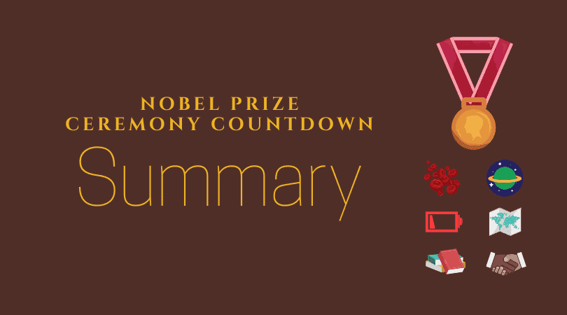 Nobel Prize Ceremony Countdown – Summary