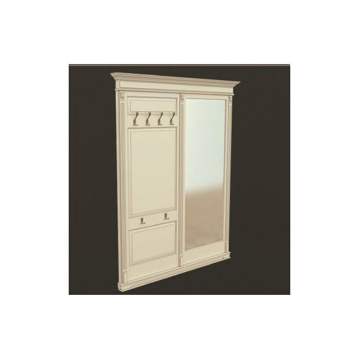 Панель-вешалка с зеркалом напольная ПВЗ-6 1800 (85)