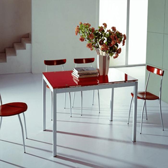 B2199 стол обеденный,красный