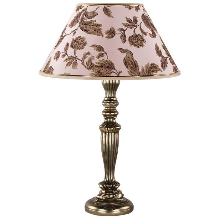 Настольная лампа Богемия Бронза Маргарита Персик
