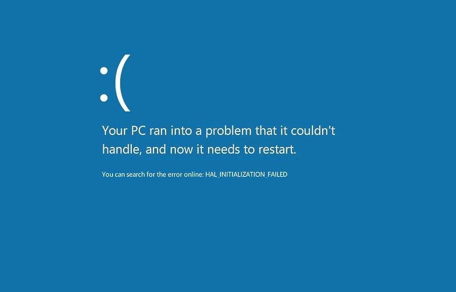 Tela Azul da Morte - Windows 8