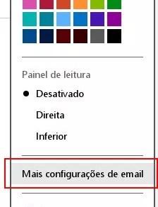 Acessando as configurações do e-Mail