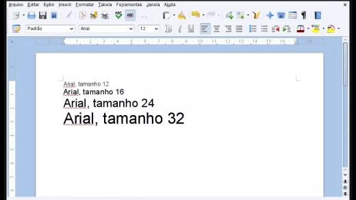 Font Arial no LibreOffice em Distro Linux