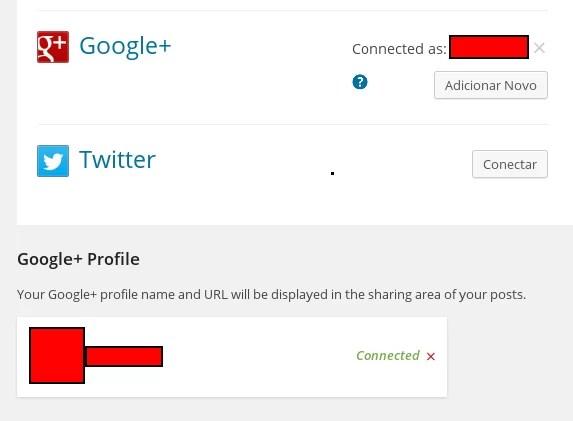 Exemplo de Google+ configurado - WordPress.com