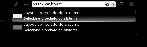 """Procurando """"yast2 keyboard"""" via Alt+F2"""