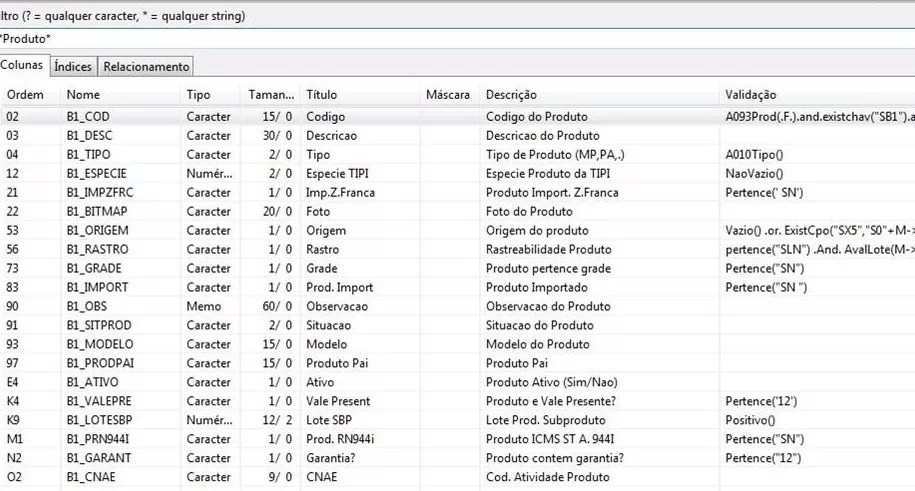 Exemplo de utilização de filtragem dos dados