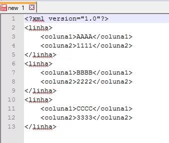Resultado do XML já indentado