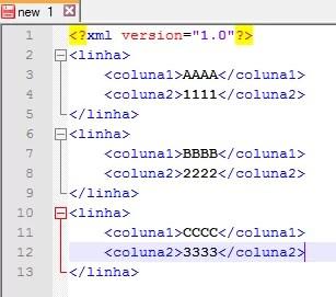 Visualização melhor do XML