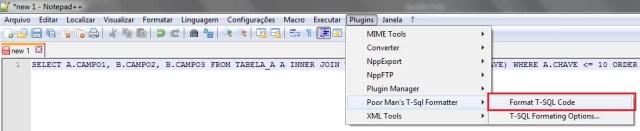 Formatando a cláusula (indentar / converter)