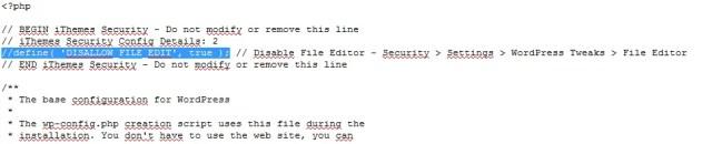 Edição do arquivo
