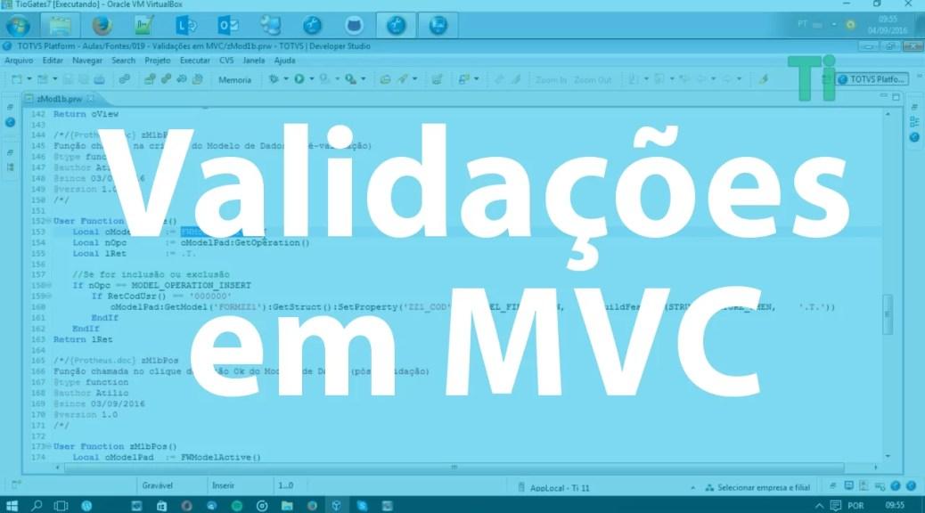 Validações em MVC