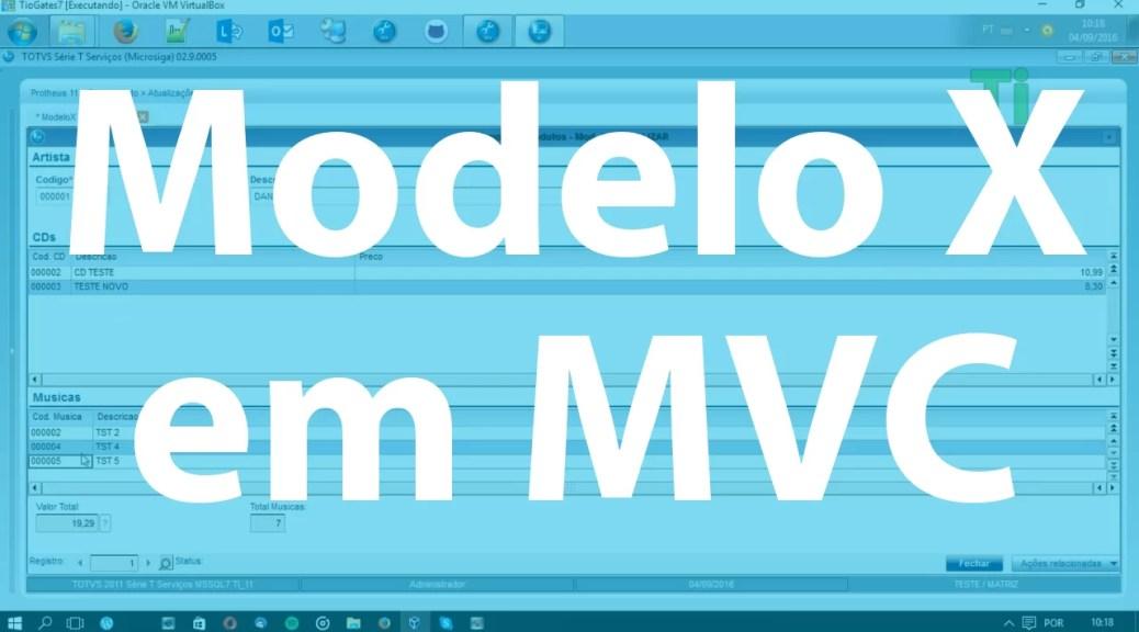 Modelo X em MVC