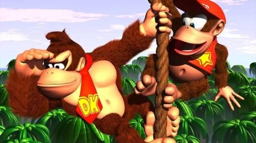 Donkey Kong e seu parceiro Diddy Kong