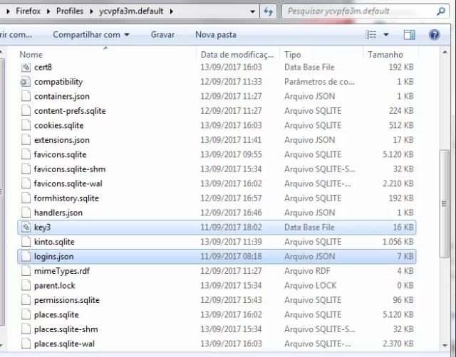 Arquivos restaurados