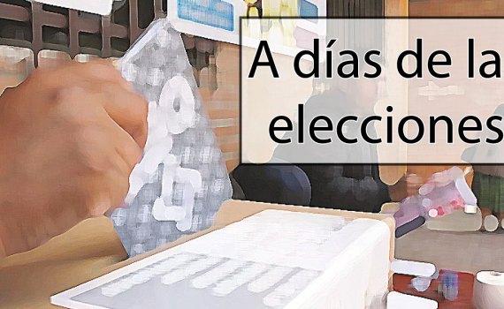 a días de las elecciones