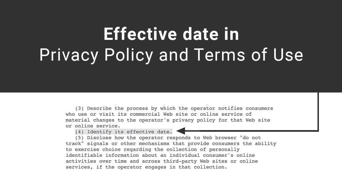 Effective Date In Privacy Policy And Terms Of Use