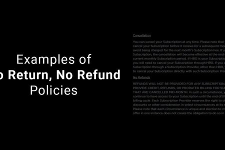 Examples of No Return  No Refund Policies   TermsFeed Examples of No Return  No Refund Policies