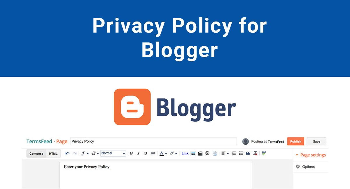 Privacy Policy For Blogger Blogspot