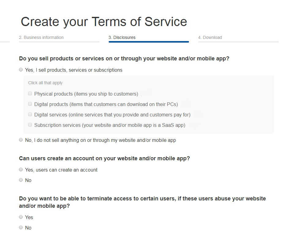 sample terms of service template termsfeed Terms Of Service id=75532