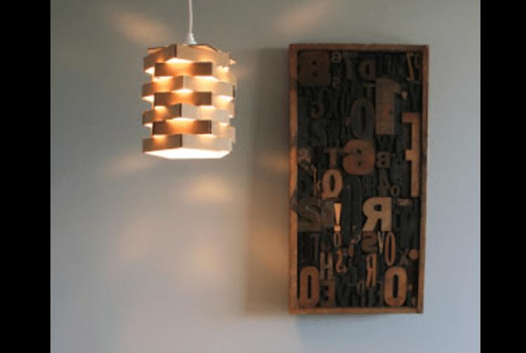lampu hias dari kardu bekas