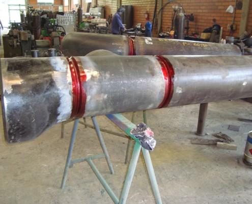 Liquido penetrante rojo fase de penetración