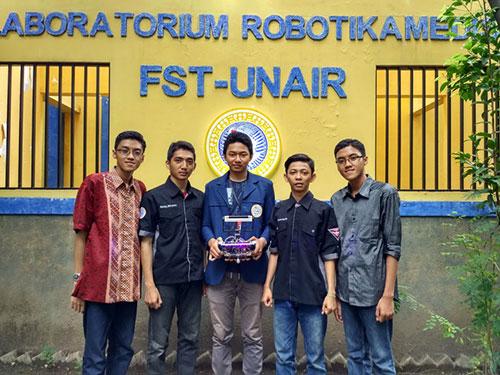 Mahasiswa Unair Buat Robot untuk Sterilkan Bakteri