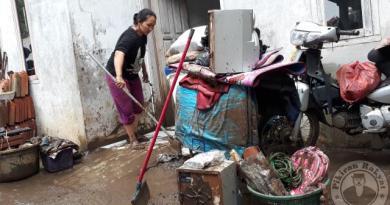 Meluapnya Sungai Cipageran Puluhan Rumah Terendam Banjir