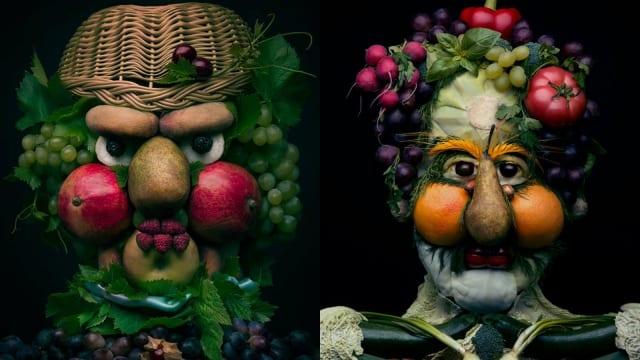 Karya Seni Unik Dari Susunan Buah-buahan dan Sayuran