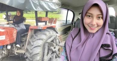 Wanita Cantik Ini Dihujat Soal Bajak Sawah Pakai Traktor